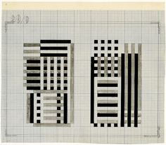 """Josef Albers, Study for Glass Construction """"Bowers"""", 1929, The Josef and Anni Albers Foundation"""