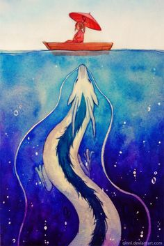 Illustrations by Qing Han | Cuded #ghibli #spiritedaway