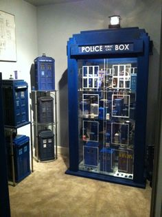 Okay, this really should go on my Geek/Nerd board, but TARDIS China cabinet!!!