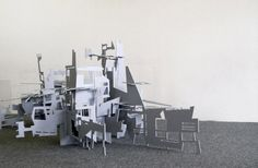paper installation by caitlin masley