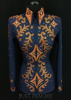 Navy and Copper Western Showmanship Jacket by Paintedj – Just Peachy