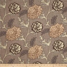 Acetex Casandra Floral Putty fabric.com