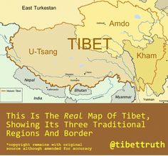 Map Of Tibet | Tibet, Activism And Information