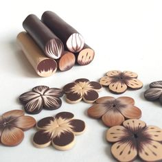 Polymer Clay Canes, Polymer Clay Flowers, Polymer Clay Jewelry, Art Clay, Clay Crafts, Beads, Unique Jewelry, Rolls, Soap