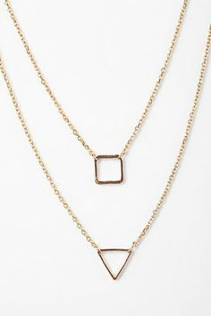 Dainty gold layered necklace - $16