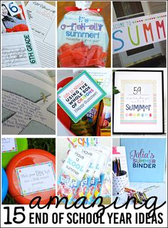 The end of the school year will be here before you know it! Here are 15 Amazing End of the School Year ideas to make happen. Great ways to kick of summer!