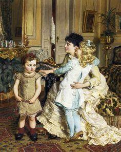 Motherly Love-Edgar Farasyn (1858 – 1938, Belgian)