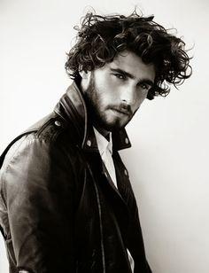 Alex Libby leather jacket beard hair tumblr Style