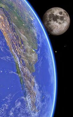 Ruta a la Patagonia - #Google+  #Patagonia from Space