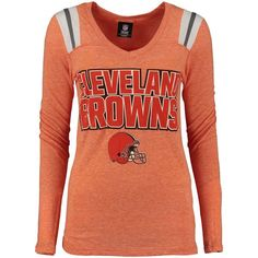 Cleveland Browns 5th  amp  Ocean by New Era Women s Tri-Blend V-Neck ca060c681