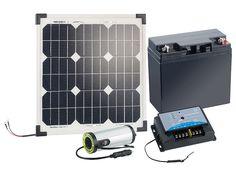 revolt Solarpanel (20 W) mit Akku, Laderegler und 230-V-Wandler revolt Solaranlagen
