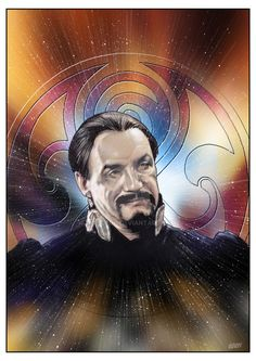 Photoshop colouring of the Anthony Ainley portrait. Hope you like.