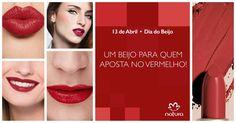 O Dia do Beijo está chegando! E você, já escolheu a cor do seu? Se aposta no vermelho, confira todas as nossas opções de tons e texturas para criar looks incríveis e surpreendentes. Um beijo para quem é de beijo vermelho.