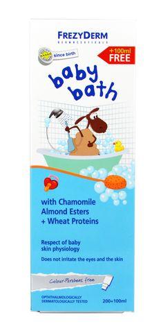 Frezyderm Baby Bath Βρεφικό Αφρόλουτρο με Χαμομήλι, Εστέρες Αμυγδάλου & Πρωτείνες Σιταριού 200ml + Δώρο Επιπλέον Ποσότητα 100ml. Μάθετε περισσότερα ΕΔΩ: https://www.pharm24.gr/index.php?main_page=product_info&products_id=11841