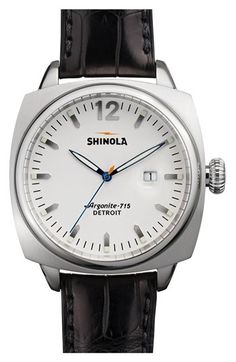 Shinola 'The Brakeman' Alligator Strap Watch, 40mm available at #Nordstrom