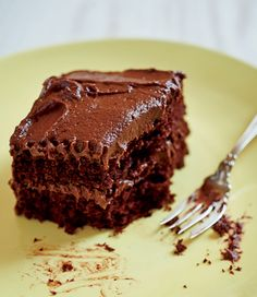 """Ruth Reichl calls this """"the cake that cures everything"""": Rich cake layers with chocolate cream cheese frosting. Yes! (From My Kitchen Year, Murdoch Books)"""