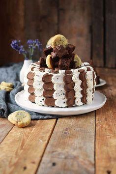 Brownie-Cookie-Torte: Drei Jahre Knusperstübchen ♥✪✿   Das Knusperstübchen   Bloglovin'