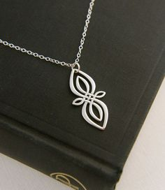 Celtic knot infinity pendant necklace in sterling silver, unique infinity, Irish jewelry, infinity necklace, silver infinity, large infinity on Etsy, $36.00