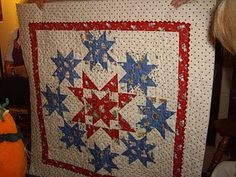 Red, white & blue quilt...beautiful!