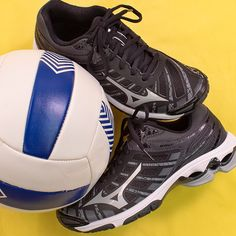Women's Black Mizuno Wave Voltage Volleyball Shoes