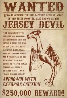 WANTED Jersey Devil  #AmericaBound  @Sheila Collette Farm