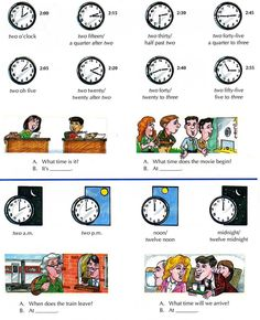 Learning the basics about telling the time