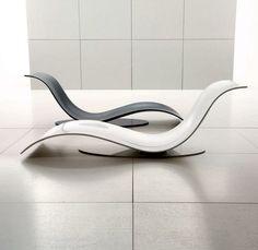 futuristische liegesessel designs spiegelobrfläche weiß schwarz