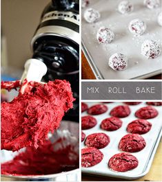 Red Velvet Gooey Butter Cookies ..can't wait to try this yummy recipe by Tidy Mom.