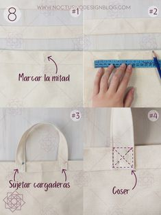 Easy sewing: Canvas tote bag for beginners. DIY tote bag on canvas. Origami Ball, Diy Origami, Origami Paper, Sewing Tutorials, Sewing Projects, Sewing Patterns, Diy Bag Strap, Diy Tote Bag, Diy Papier