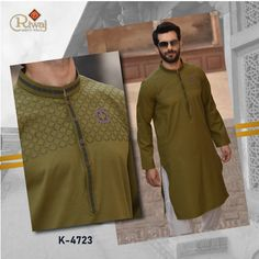 Riwaj Men's Wear is Pakistan's leading Men's clothing branding which is known for its finest fabric quality and traditional designs. The brand is considered as a goal setter in the market's fashion. Traditional Design, Traditional Outfits, Pathani Suit Men, Mens Shalwar Kameez, Boys Kurta Design, Kurta Patterns, Baby Frocks Designs, Mens Kurta Designs, Mens Fashion Online