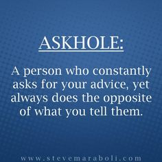 Don't be an askhole...