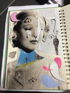 Collage ;,) made with magazines and pen