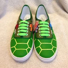 Omg! Ninja turtle vans! This is a must!  https://www.etsy.com/listing/184000966/tmnt-shell-shocked-custom-vans