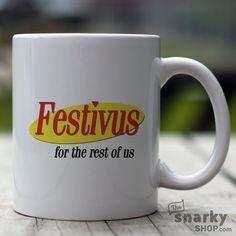Festivus 15oz Mug Seinfeld Holiday Mug by TheSnarkyShop on Etsy