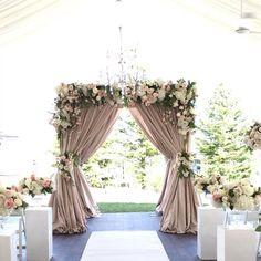 Elegant Wedding Themes, Wedding Arch Rustic, Wedding Ceremony Arch, Wedding Entrance, Wedding Altars, Wedding Mandap, Wedding Wall, Wedding Ceremony Decorations, Garden Wedding