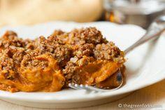 Healthy Sweet Potato Casserole @ TheGreenForks.com #vegan