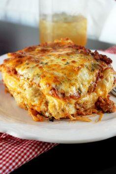 Cajun five-cheese lasagna.