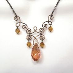 Kinda lovin' this   bronze jewelry crystals - Google Search