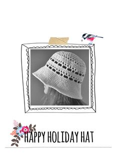 happy holiday hat cover