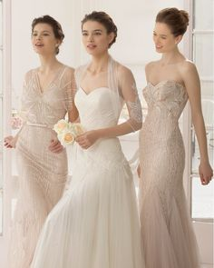 Aire Barcelona 2015 Bridal Collection. 1000+1 Creative Ways to Add Color to Your Wedding! View more wedding ideas:  http://www.homeboutiquecraft.com