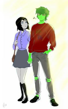 Beast boy and Raven judas contract