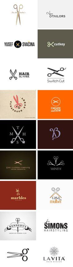 logos with scissors