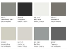 The Reasoned Colors :: Sherwin Williams