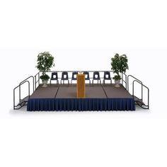 "Midwest Transfold Fixed Platform Hardboard Stage Size: 24"" H x 48"" W x 72"" D"