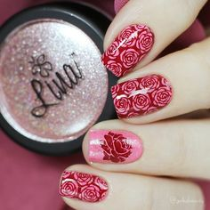 """Galyna on Instagram: """"❤ #StValentinesNails with @linanailartsupplies Pixiedust Diamond/Holo Powder """"#SparkleOn!"""" applied thin on a pink creme nail polish. ⠀ Also…"""" Valentine Nails, Valentines Day, Holo Powder, Es Nails, Nail Polish, Nail Art, How To Apply, Diamond, Pink"""