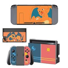 Orange color Nintendo switch cover for Nintendo switch console. Choose your favorite design from a huge range of switch covers collection for Nintendo Switch Console. Buy Nintendo Switch, Nintendo Switch System, Nintendo Sega, Super Nintendo, Nintendo Switch Accessories, Xbox One Skin, Ps4 Skins, Pokemon Sun, Cool Technology