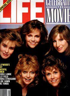 Jessica Lange, Sally Field, Barbra Streisand, Goldie Hawn, and Jane Fonda.  LIFE Magazine 1986.