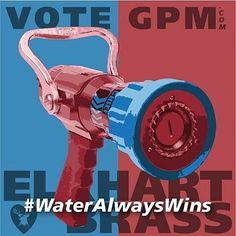CONTEST   @elkhartbrass -  In a time of political uncertainty when choosing a candidate can seem daunting we implore you to VOTE GPM because Water Always Wins!  Visit VoteGPM.com where you will be asked to cast your vote for your favorite smooth bore tips. We'll then send you a campaign sticker so you that can proudly show your support for WATER this political season while they last!  Also tag @elkhartbrass on Facebook Instagram or Twitter and use the hashtag #WaterAlwaysWins showing our…