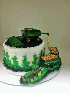 Tractor cake (peanuts = corn)