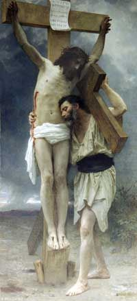 Compassion by Bouguereau... Align our pain with Christ's agony on the cross.
